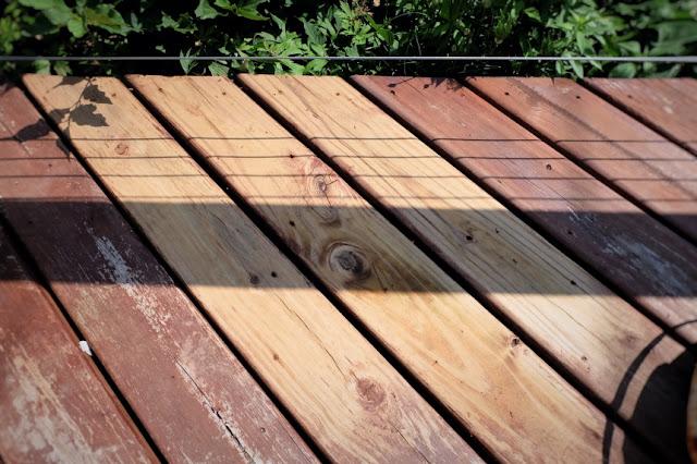 removed stain deck strip stripper