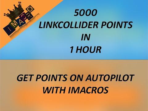 Get 5000 Linkcollider points in 1 hour on AutoPilot