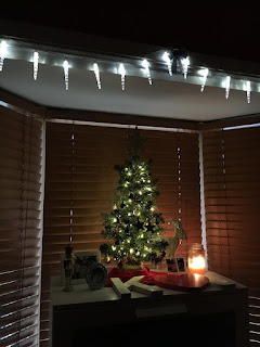 Mini Christmas Tree Display in Bedroom