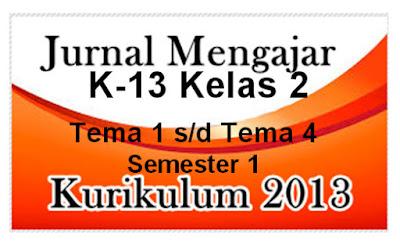 Inilah Jurnal Guru Kelas 2 Kurikulum 2013 Lengkap Semester 1