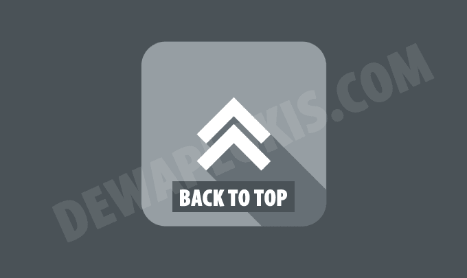 cara membuat tombol back to top icon svg