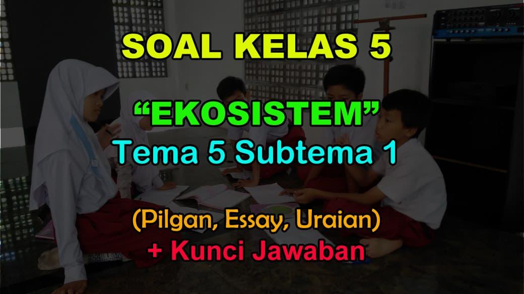 40 Soal Kelas 5 Tema 5 Subtema 1 Ekosistem Jawaban Muttaqin Id
