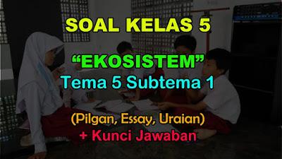 Pada kali ini kami akan membagikan soal tematik SD MI 40 Soal Kelas 5 Tema 5 Subtema 1 (Ekosistem) & Jawaban