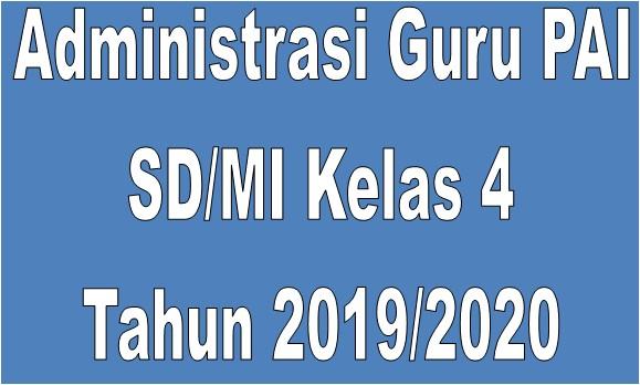 Administrasi Guru PAI SD/MI Kelas 4 Tahun 2019/2020 - Guru Krebet 3