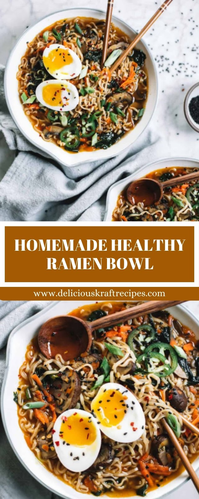 HOMEMADE HEALTHY RAMEN BOWL