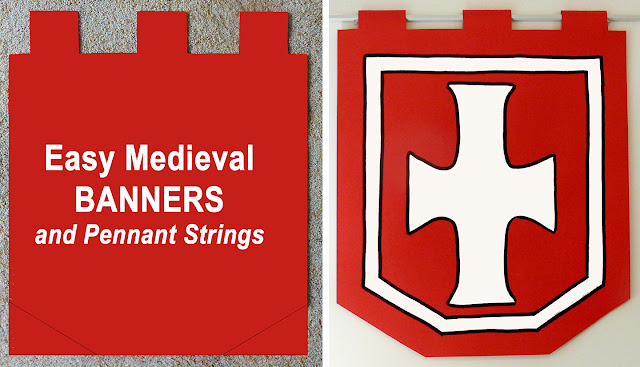 Make Annie Lang's medieval themed banner and pennant string