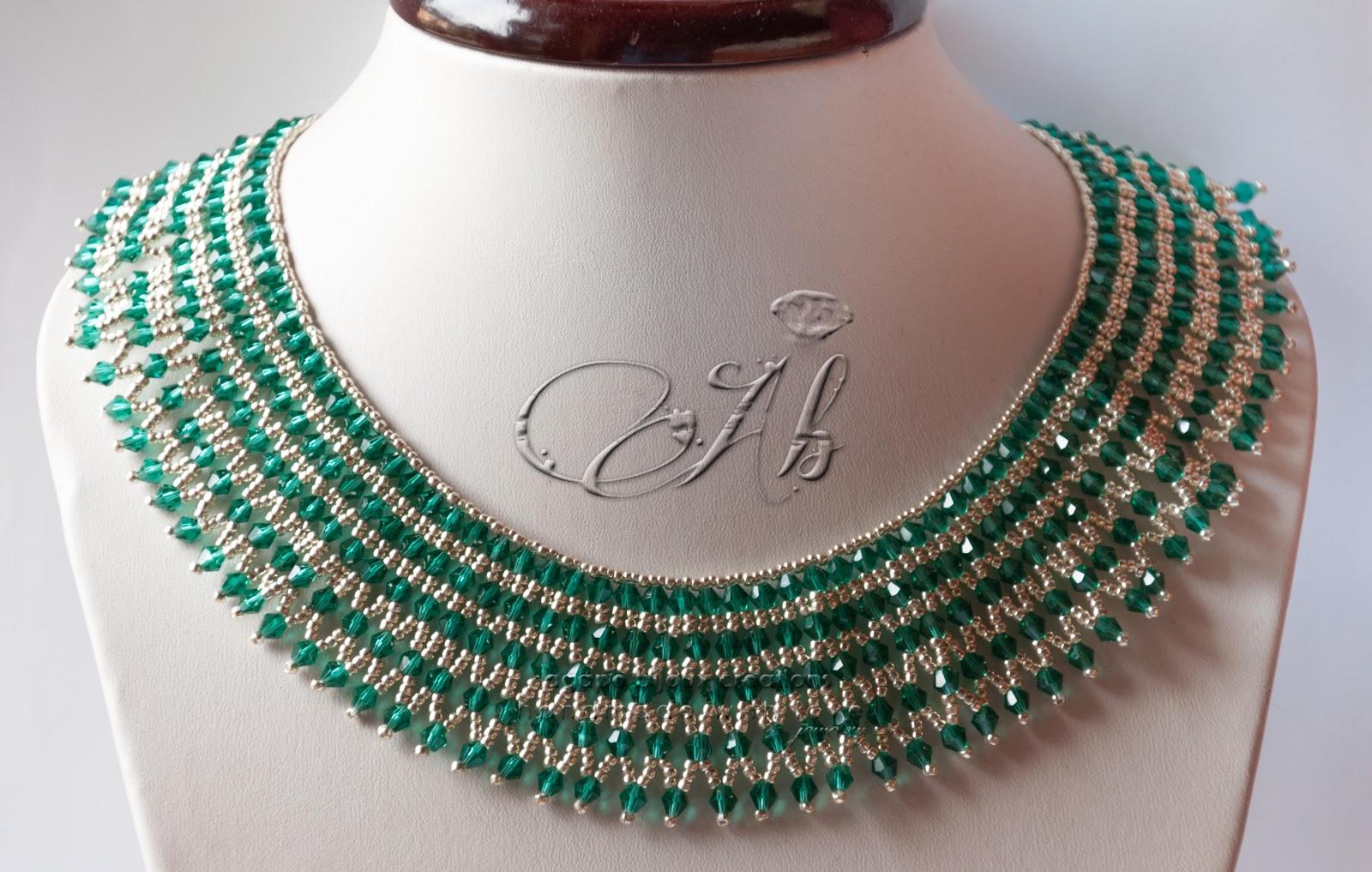 Popolare Collana Verde Smeraldo UV47 » Regardsdefemmes CI51