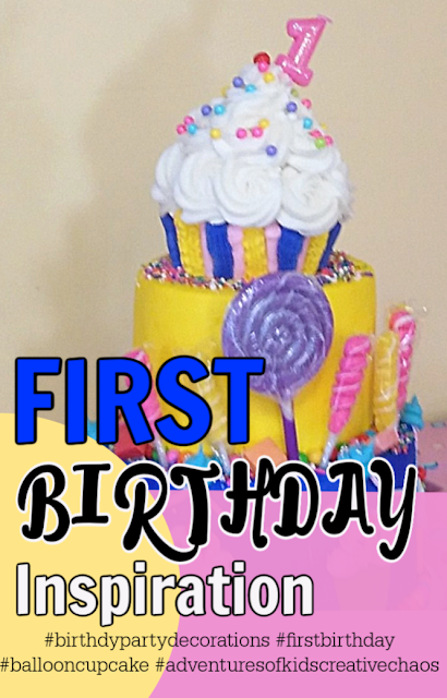 Best First Birthday Party Ever  cupcake theme, birthday cake