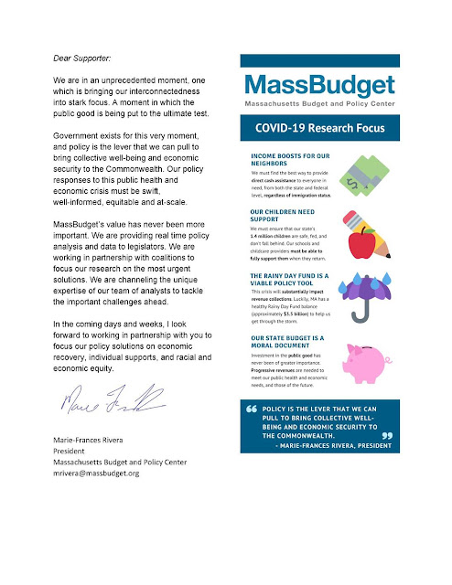 MassBudget's Week-in-Review: COVID-19 Response