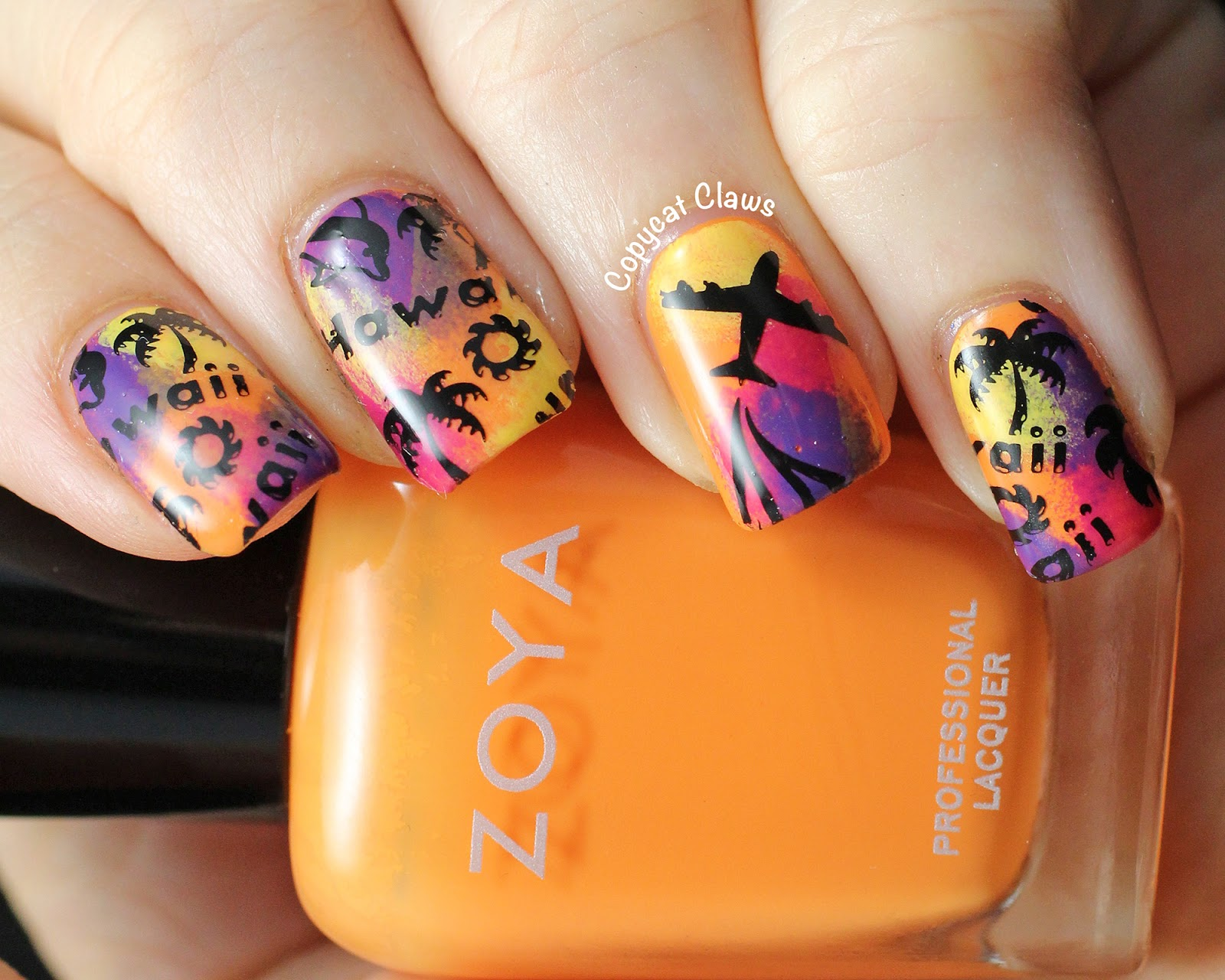 Copycat Claws: Hawaii Nail Art & Zoya Arizona Swatch