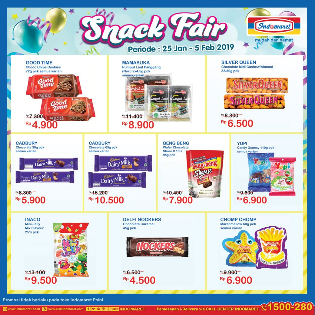 #Indomaret - #Promo #Katalog Snack Fair Periode 25 Jan - 05 Feb 2019