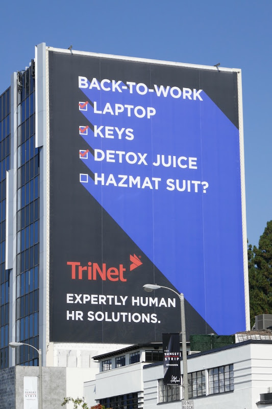 Giant Back-to-work checklist TriNet billboard