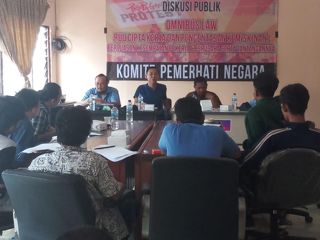 Komite Pemerhati Negara Gelar Diskusi Publik Menyoal Omnibus Law