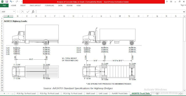 Analysis of Concrete Slabs on Grade Spreadsheet-Download Free ...