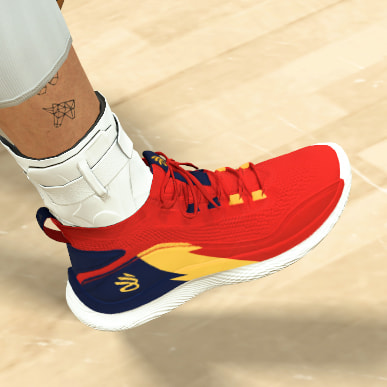 NBA 2K21 Curry 8 'We Believe' Flow Shoes By Froilan Javier