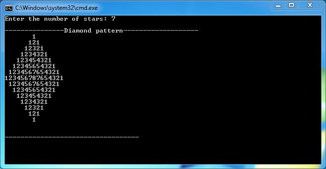 Code Box C++: Diamond Pattern Programming in C++ (Pattern 5)
