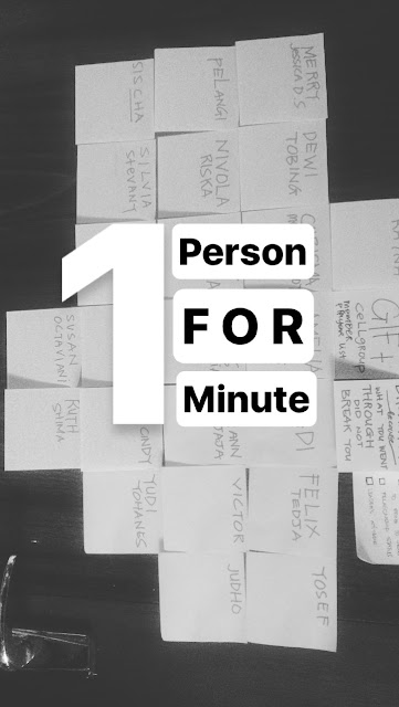 1 Person for 1 minute