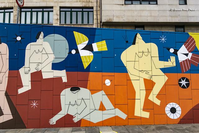 Mural (detalle) Supervivientes Violencia Machista, por Junita Makina - M. Merced, Bilbao por El Guisante Verde Project
