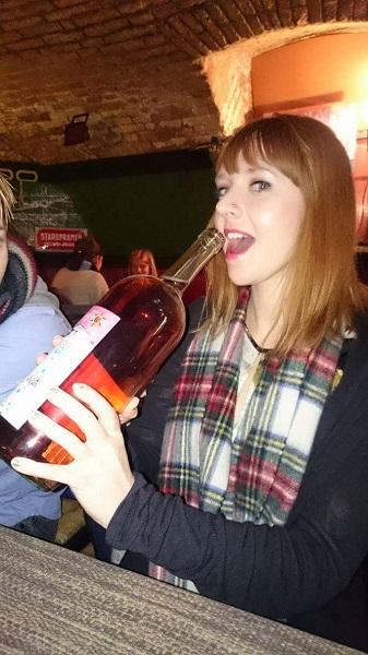 Giant wine bottle