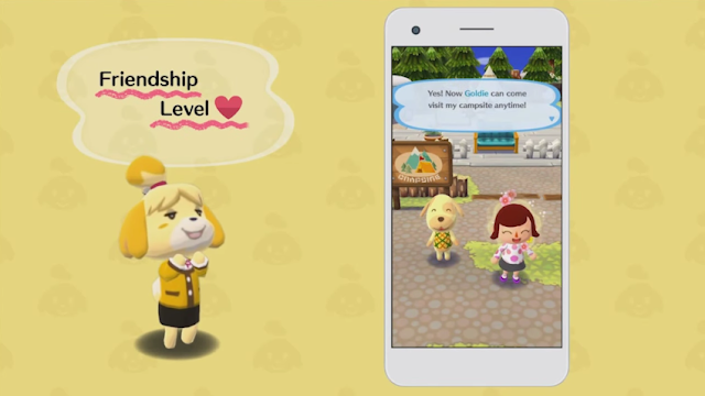 Animal Crossing Pocket Camp friendship level Isabelle Goldie