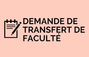 Exemple d'une demande de transfert de faculté