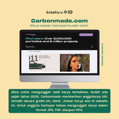 Carbonmade Rekomendasi Situs Buat Upload Portofolio
