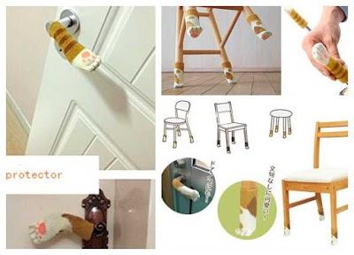 Garra de gato calcetin a tricot para proteger piezas del hogar