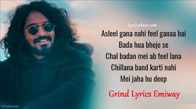 Grind Lyrics Emiway