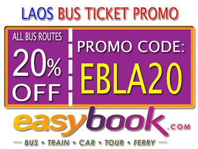 Diskon 20% Pembelian Tiket Bus Laos Via Easybook