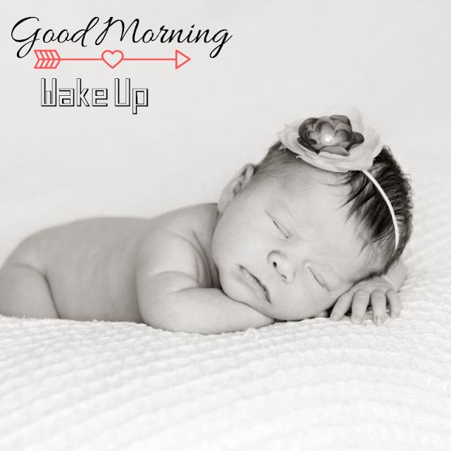 Vary cute sleeping Baby Good Morning Images