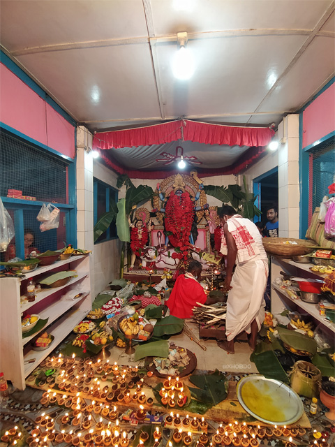 Kali Puja at Kali Mandir, near Forest office, Abhayapuri , Assam