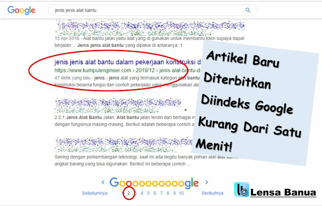 indeks artikel dalam 1 menit, cara indeks google search console