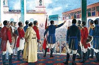 Imagen de la Proclamación de la Independencia del Perú a colores