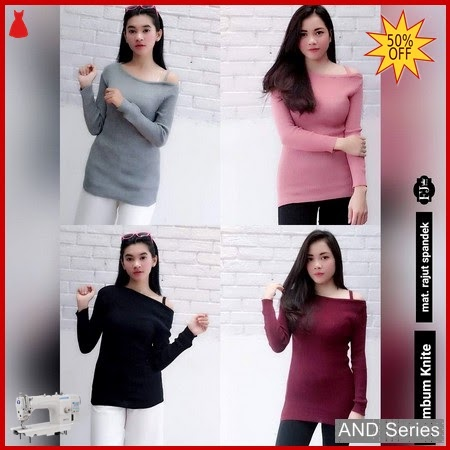 AND240 Baju Atasan Wanita Blouse Kimbum Knit8 BMGShop