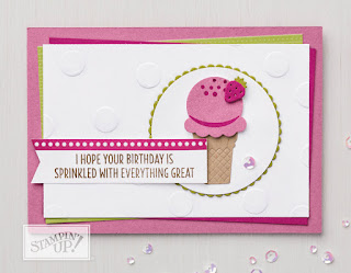 Stampin' Up Cool Treats Ice Cream Birthday Card