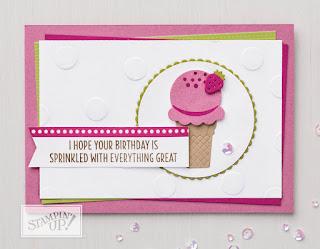 Stampin' Up Cool Treats Ice Cream Birthday Card
