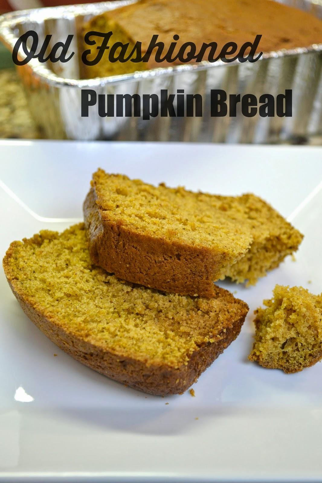 Old Fashioned Classic Pumpkin Bread