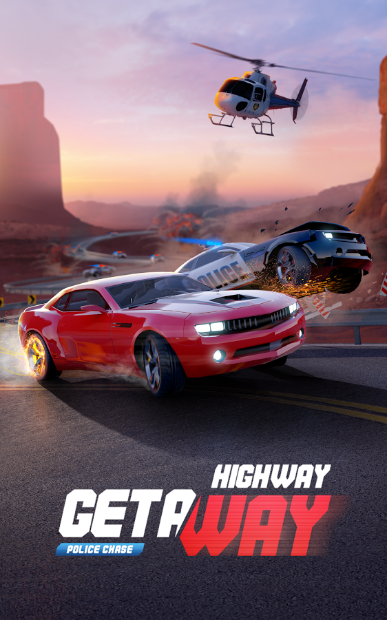 Highway Getaway Police Chase MOD APK