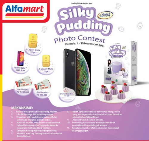 Ikuti Silky Pudding Photo Contest dan Menangkan 2 iPhone XS MAX