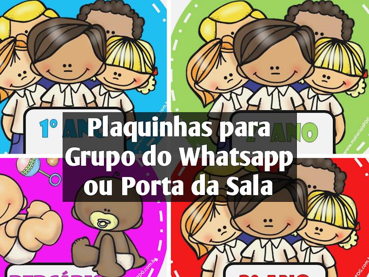 PLAQUINHAS PARA GRUPO NO WHATSAPP OU PORTA DA SALA