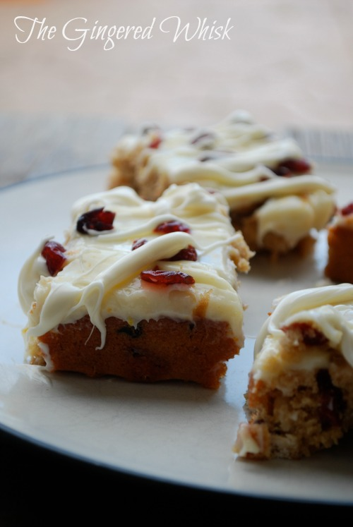 Sourdough Cranberry White Chocolate Blondies