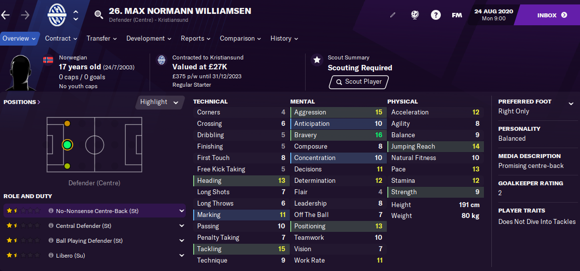 FM21 Max Normann Williamsen 2021