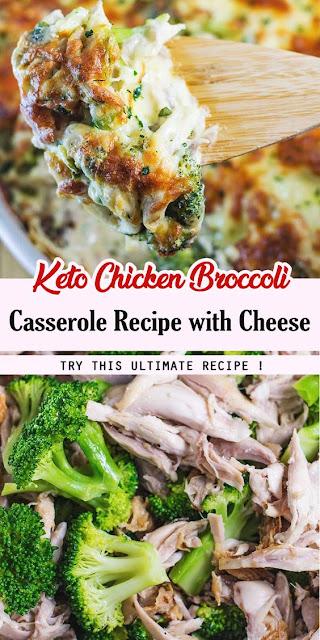 Keto Chicken Broccoli Casserole Recipe with Cheese