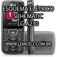 Esquema Elétrico Celular LG A230 Manual de Serviço  Service Manual schematic Diagram Cell Phone Smartphone Celular LG A230