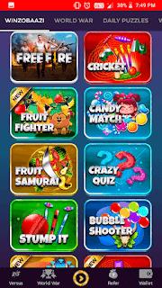 winzo app  all games