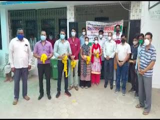 विकल्प सामाजिक संस्था द्वारा डॉक्टर्स डे पर डॉक्टर्स का पुष्पमाला व श्रीफल से सम्मान किया