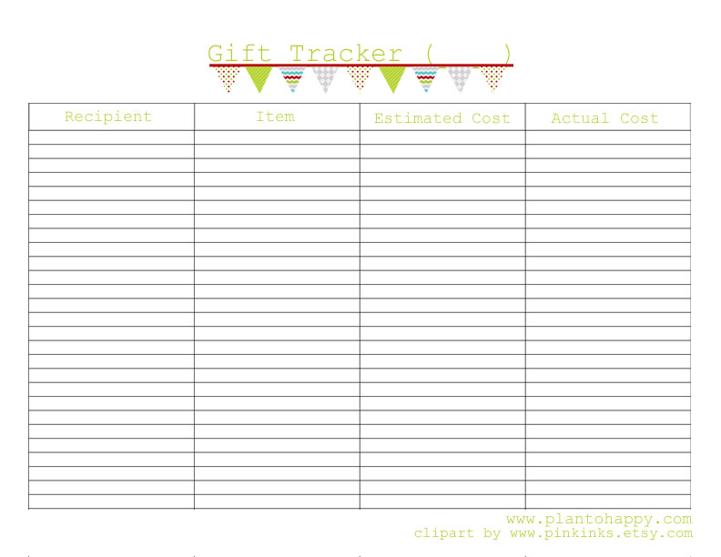 Plan to Happy: Save Your Sanity with a Christmas Gift Planner ...