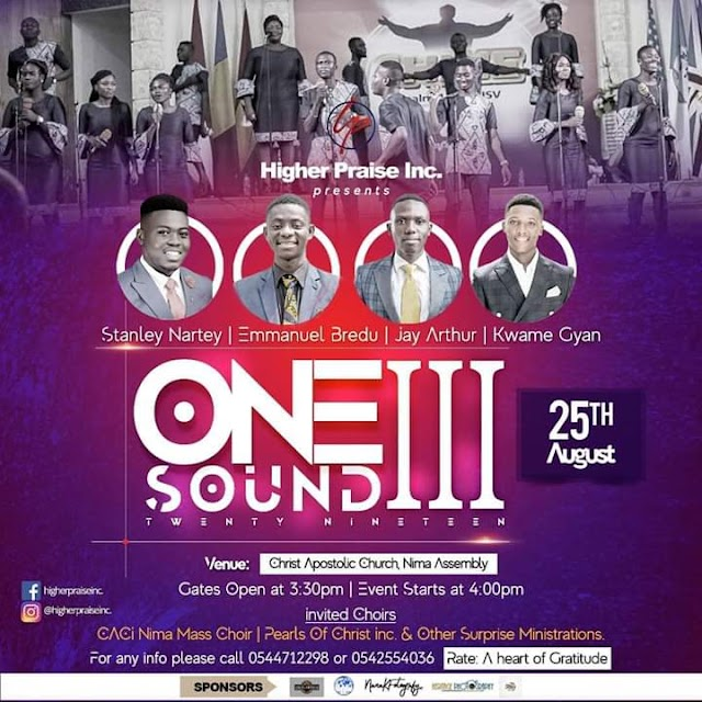 Higher Praise Inc, Set For One Sound Concert 2019.