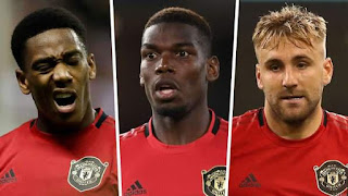 Martial, Pogba & Shaw to Miss West Ham Clash