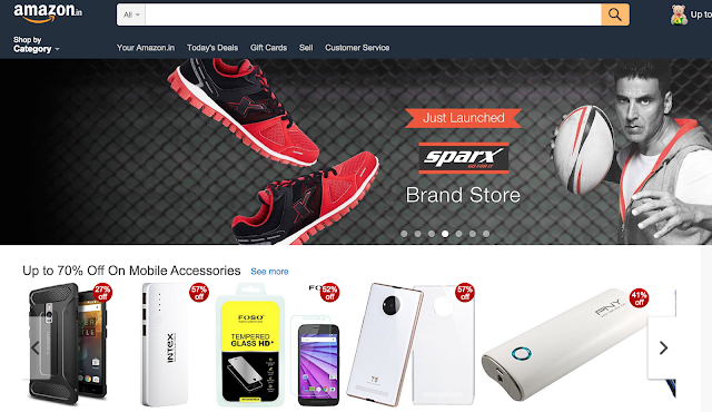 Amazon shopping in india has high competition